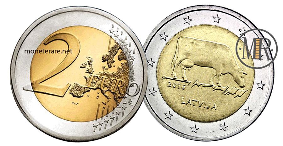 2 Euro Commemorativi Lettonia 2016 - Mucca Lettone