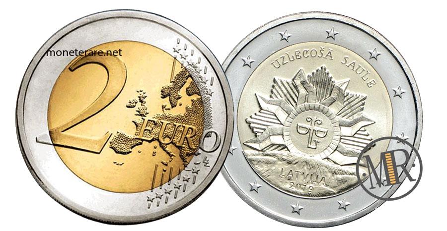 2 Euro Lettonia Commemorativi  2019 - Il sole nascente