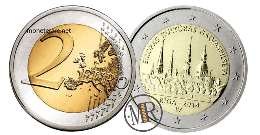 2 Euro Commemorativi Lettonia 2014 - Riga Capitale Europea della Cultura