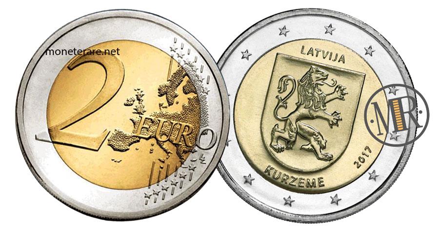 2 Euro Lettonia 2017 Commemorativi  - Curlandia