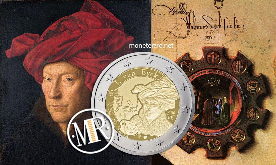 Jan van Eyck Ritratto di uomo con turbante rosso e specchio Coniugi Arnolfini