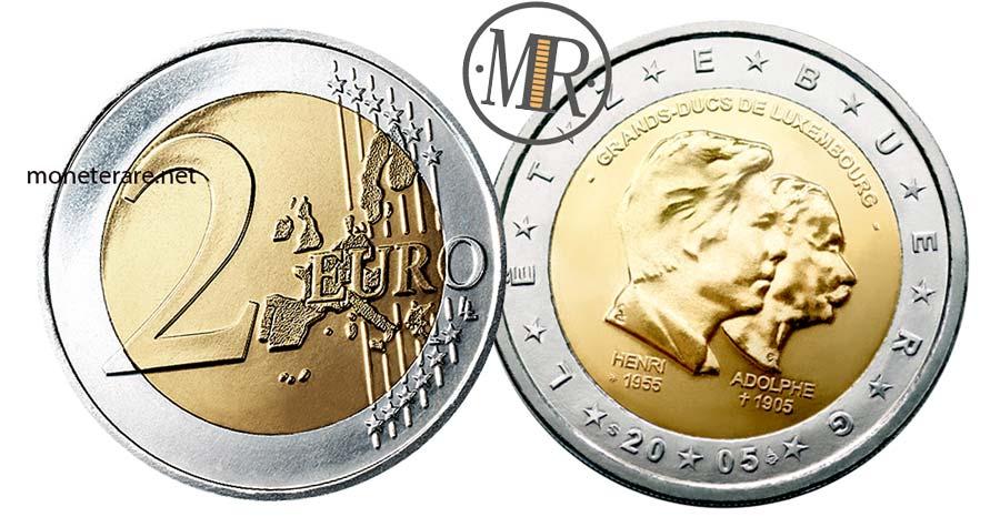 2 Euro Commemorativi Lussemburgo 2005 Henri e Adolphe