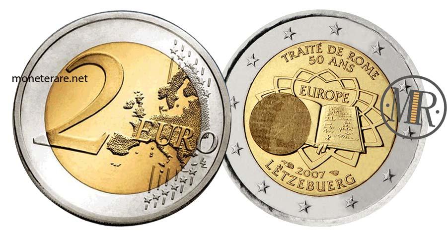 moneta da 2 Euro Commemorativi Lussemburgo 2007 Trattati di Roma