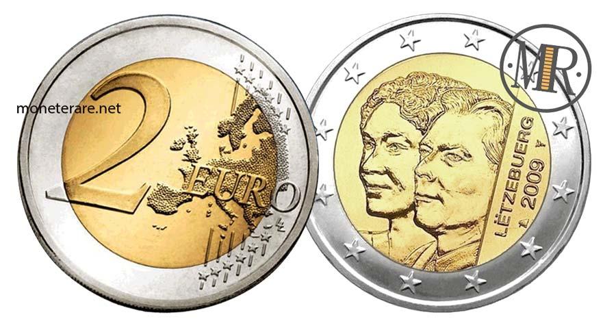 monete da 2 Euro Commemorativi Lussemburgo 2009 Granduchessa Charlotte