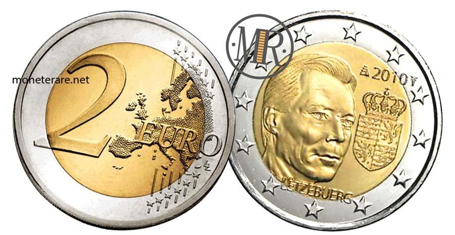 moneta da 2 Euro Lussemburgo 2010 -  Commemorativi Stemma del Granduca Henri