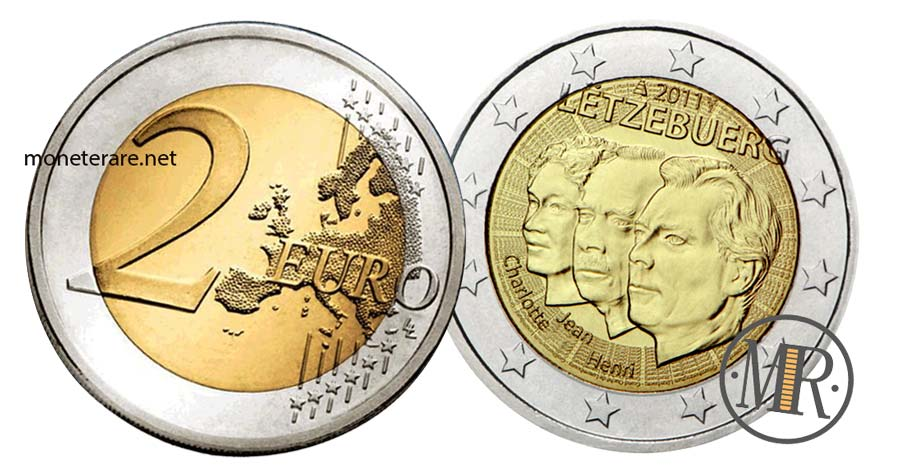 moneta da 2 Euro Commemorativi Lussemburgo 2011 Nomina