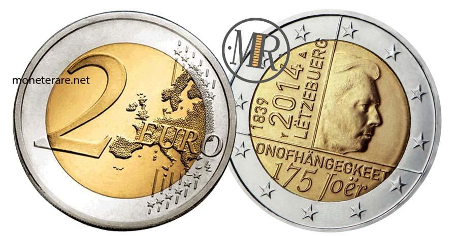 2 Euro Lussemburgo 2014 Commemorativi dell' Anniversario Indipendenza Granducato
