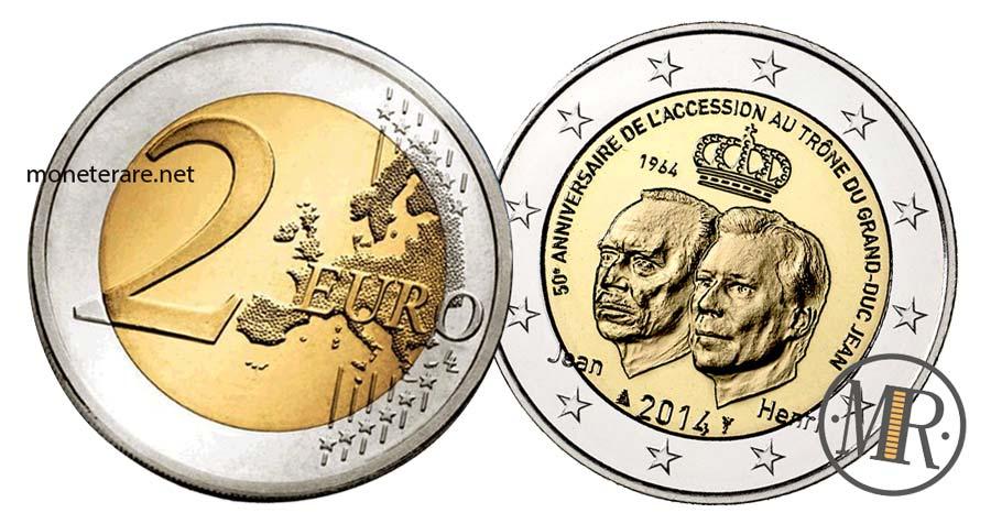 Moneta da 2 Euro Lussemburgo 2014  Commemorativi Ascesa al trono del Granduca Jean