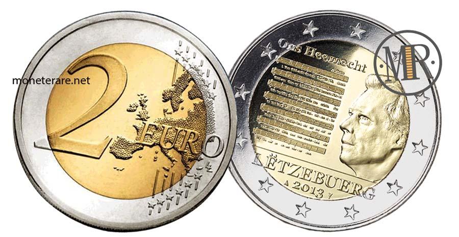 moneta 2 Euro Commemorativi Lussemburgo 2014 Inno Nazionale