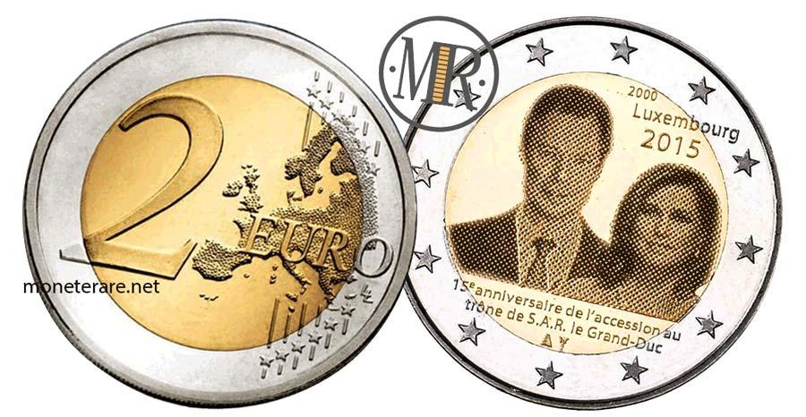 moneta da 2 Euro Commemorativi Lussemburgo 2015 Granduca Henri Ascesa al Trono