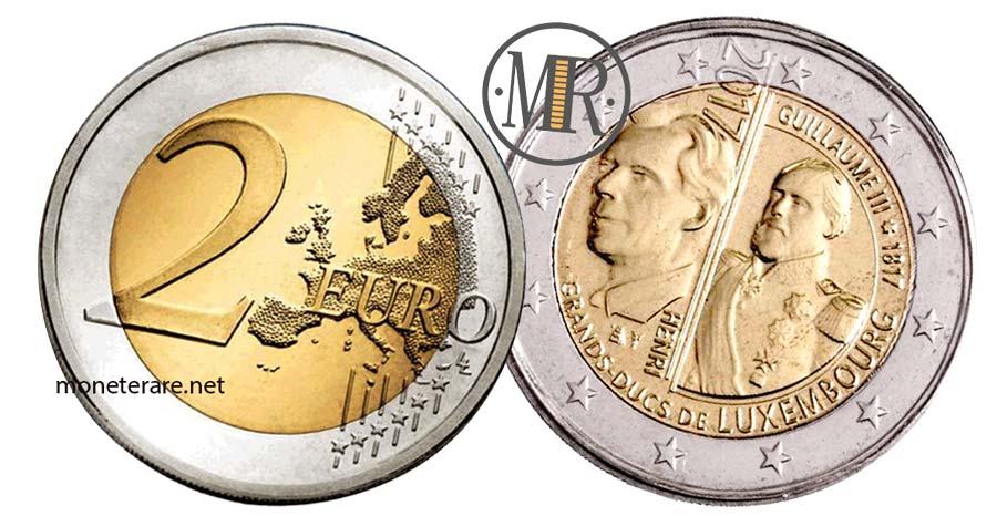 2 Euro  Lussemburgo 2017 Moneta Commemorativa dellaNascita Granduca Guillaume III 200