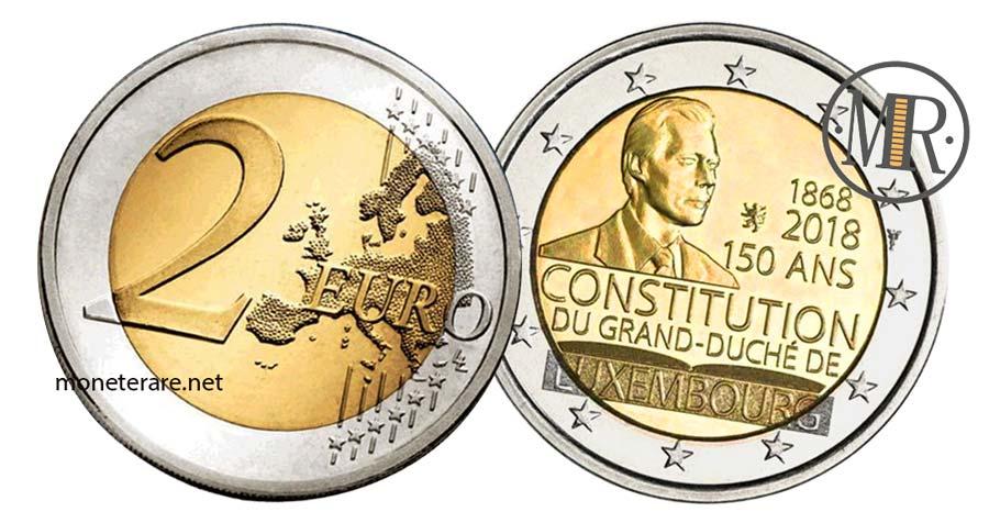 2 Euro Lussemburgo 2018  Commemorativi della Costituzione 150 anni