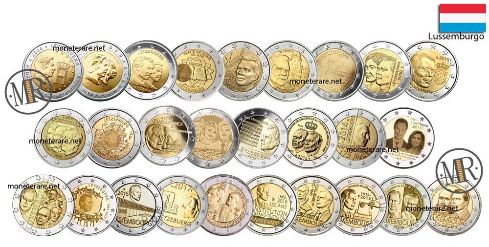 2 Euro Commemorativi Lussembrugo - Eurocollezione