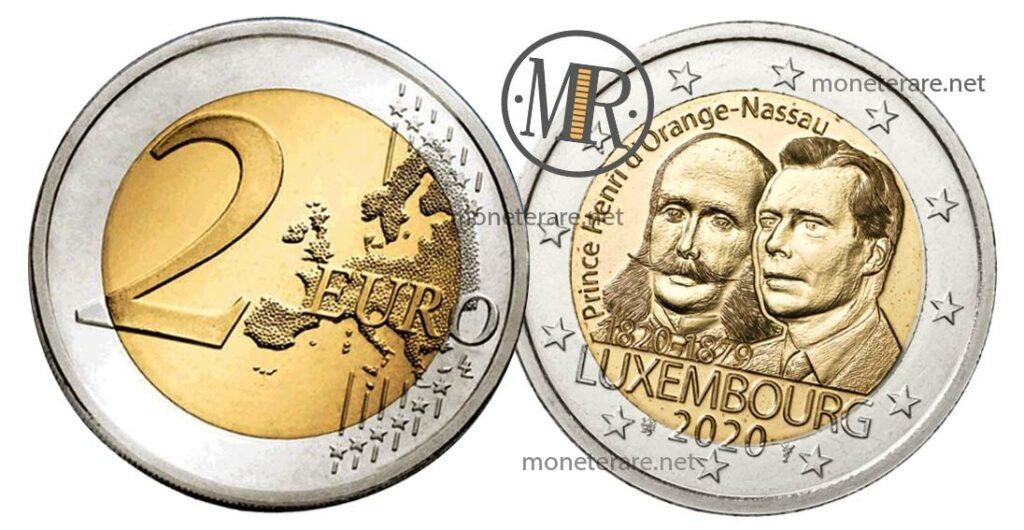 2 Euro Commemorative Lussemburgo 2020 200 Anni Principe Hanri