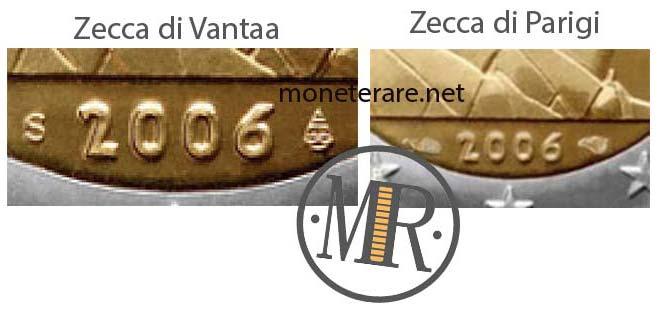 2 Euro Commemorativi Lussemburgo 2006 Varianti
