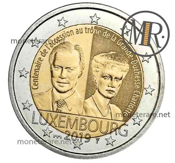2 Euro Commemorativi Lussemburgo 2019 Granduchessa Charlotte Seconda Versione Fior di Conio