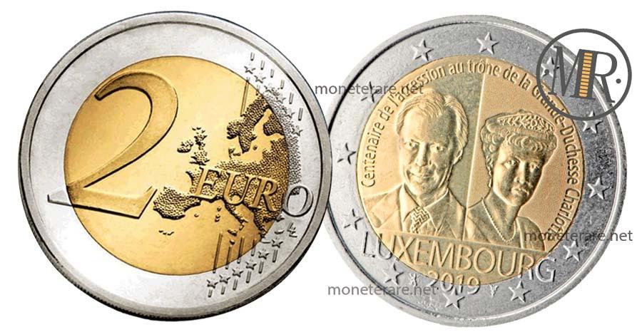 2 Euro Lussemburgo 2019 valore, Commemorativi della Granduchessa Charlotte