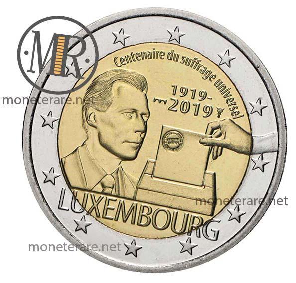 2 Euro Lussemburgo 2019 Commemorativi  Suffragio Universale FDC