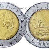 500 Lire Repubblica Italiana Quirinale
