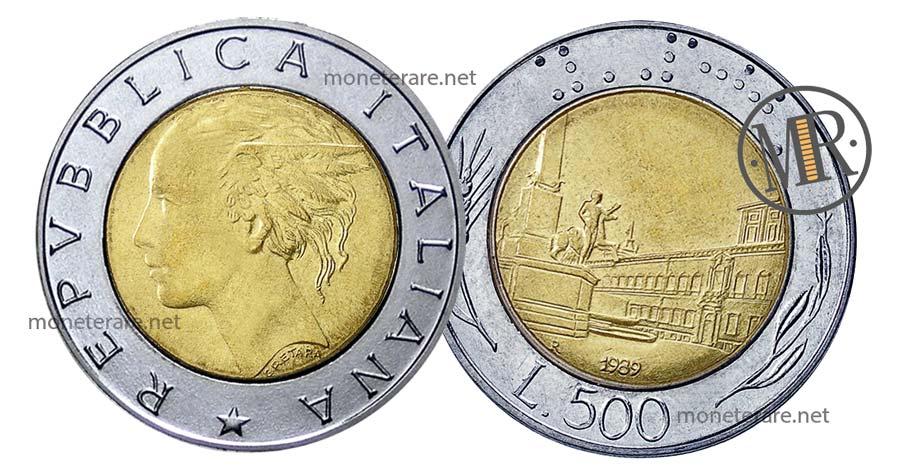 500 Lire Bimetalliche Italia Quirinale