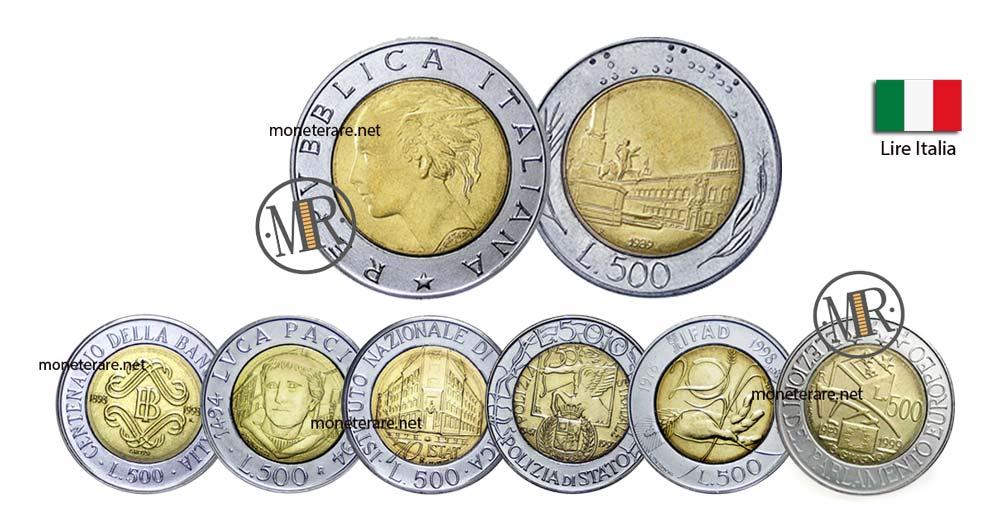 500 Lire Bimetalliche Italiane