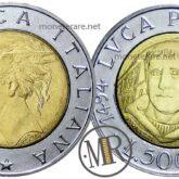 500 Lire 1994 Luca Pacioli