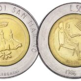 500 Lire 1986 San Marino