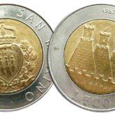 500 Lire 1987 San Marino