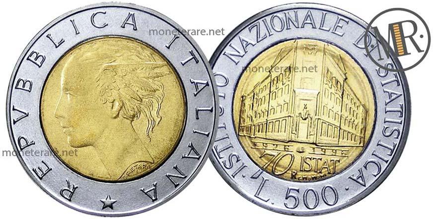 500 Lire ISTAT 1996