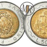 500 Lire 1988 San Marino