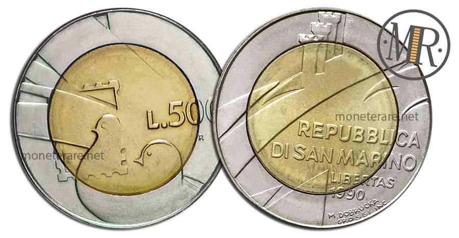 "500 Lire San Marino 1990 Coin - ""Peace"""
