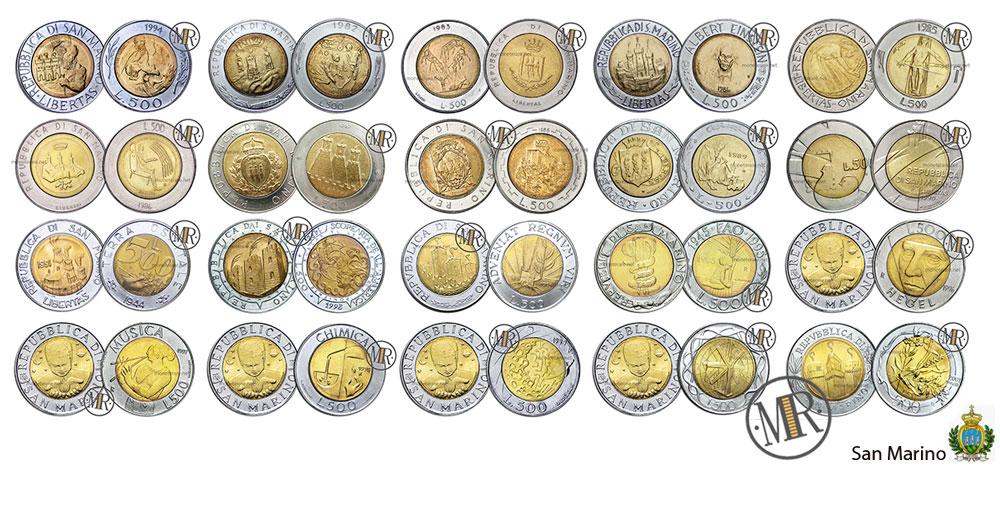 500 Lire San Marino Bimetalliche
