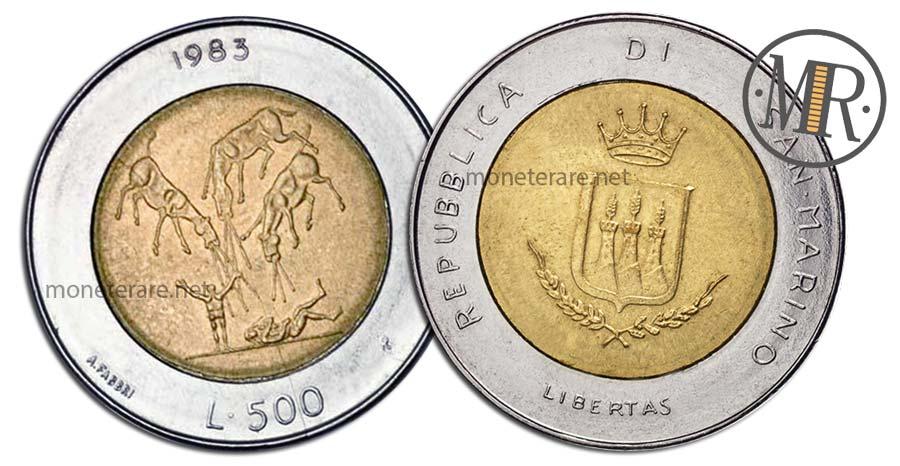 "500 Lire San Marino 1983 Coin -  ""Apocalypse - Atomic threat"""