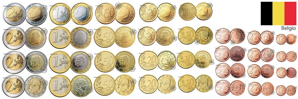 euro belgium coins
