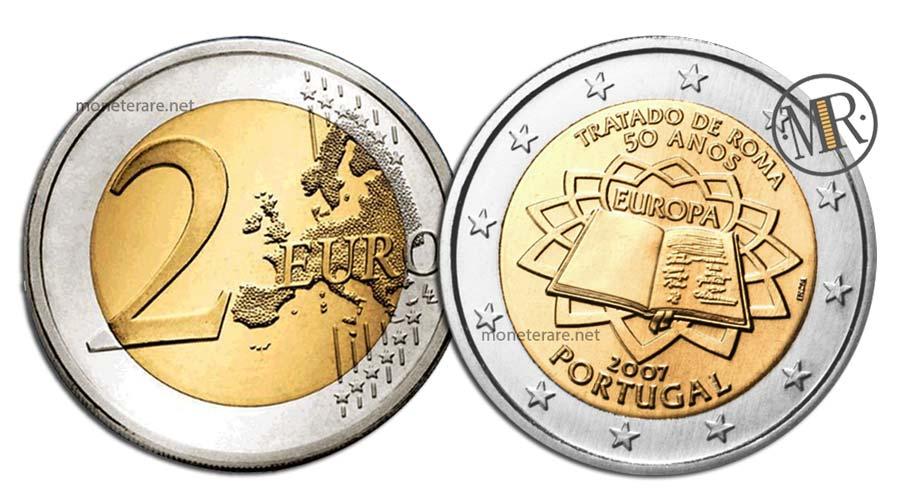 2 Euro Commemorativi Portogallo 2007 Trattati di Roma