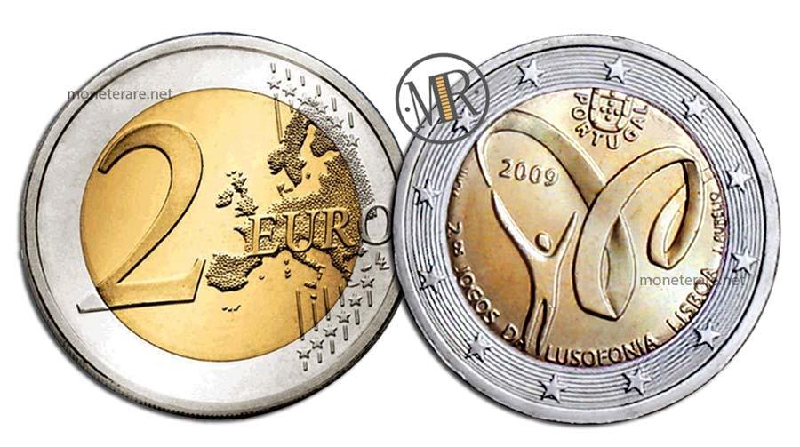 2 Euro Commemorativi Portogallo 2009 Giochi di Lusofonia