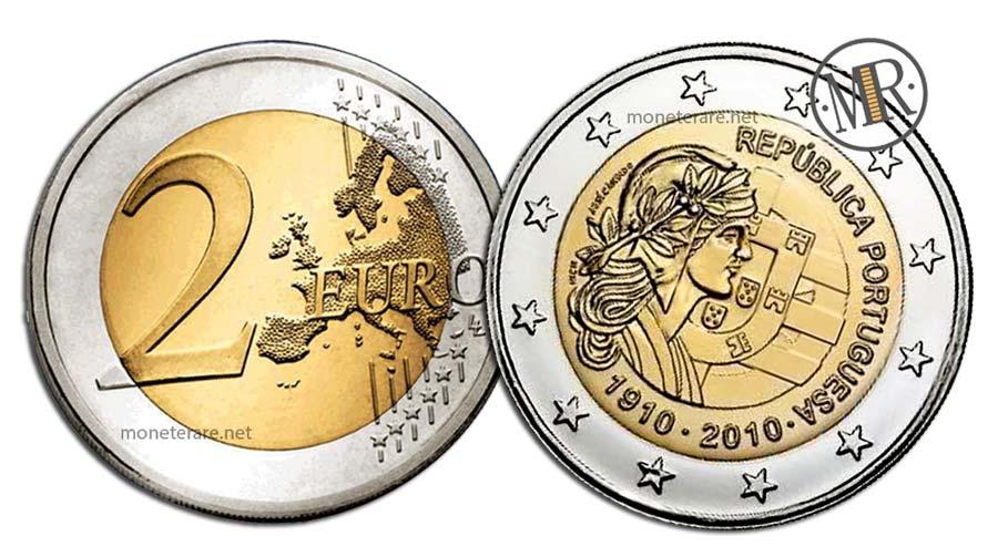 2 Euro Commemorativi Portogallo 2010 Repubblica Portoghese