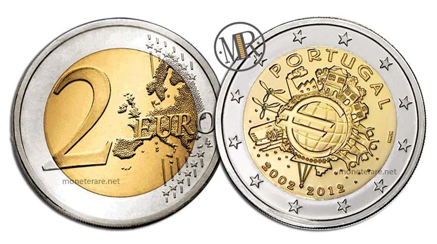 2 Euro Commemorativi Portogallo 2012 EURO