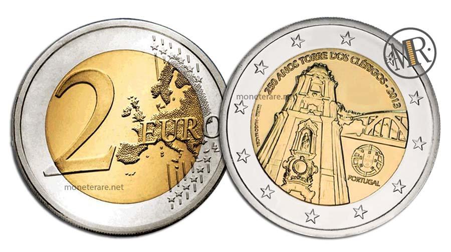 2 Euro Commemorativi Portogallo 2013 Torre dos Clérigos
