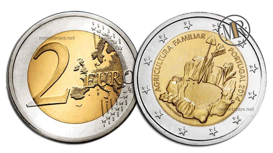 2 Euro Commemorativi Portogallo 2014 Agricoltura Familiare