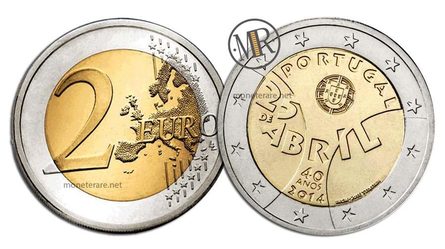 2 Euro Commemorativi Portogallo 2014 Rivoluzione dei Garofani