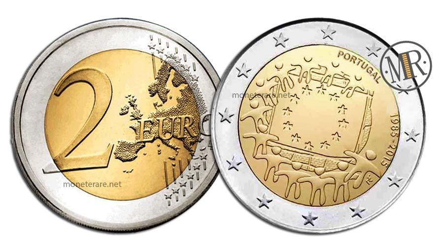 2 Euro Commemorativi Portogallo 2015 Bandiera Europea