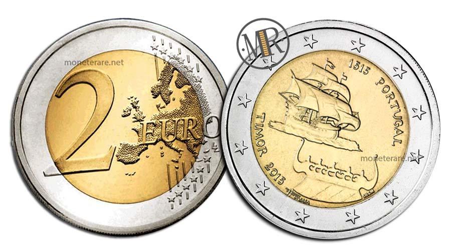 2 Euro Commemorativi Portogallo 2015 Timor
