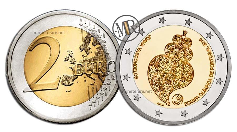 2 Euro Commemorativi Portogallo 2016 Giochi olimpici di Rio