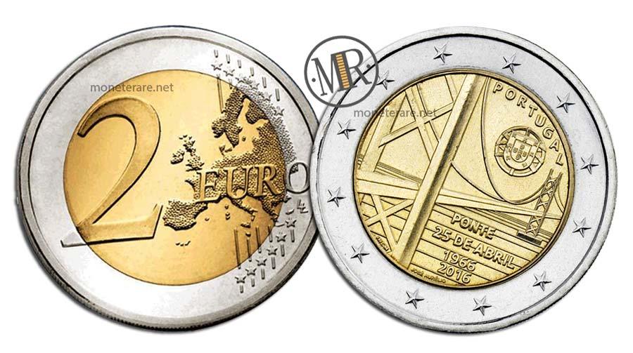 2 Euro Commemorativi Portogallo 2016 Ponte 25 de Abril