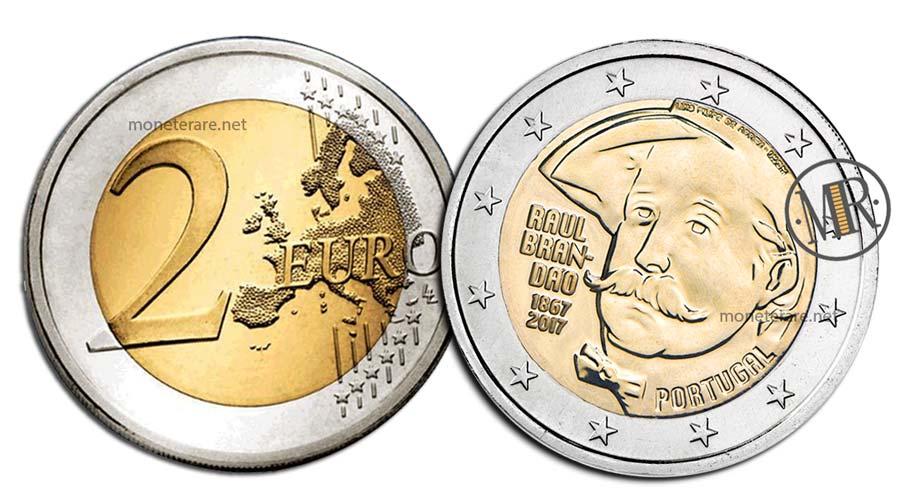 2 Euro Commemorativi Portogallo 2017 Raul Brandão
