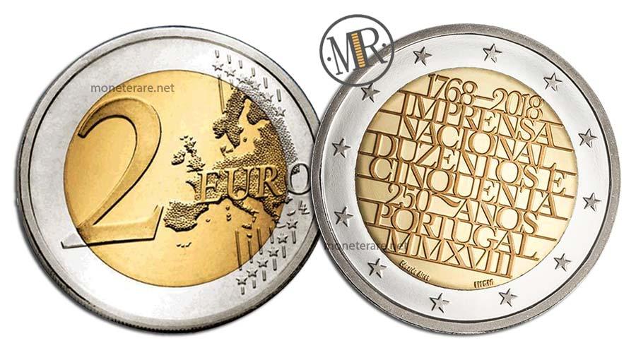 2 Euro Commemorativi Portogallo 2018 Zecca Portoghese
