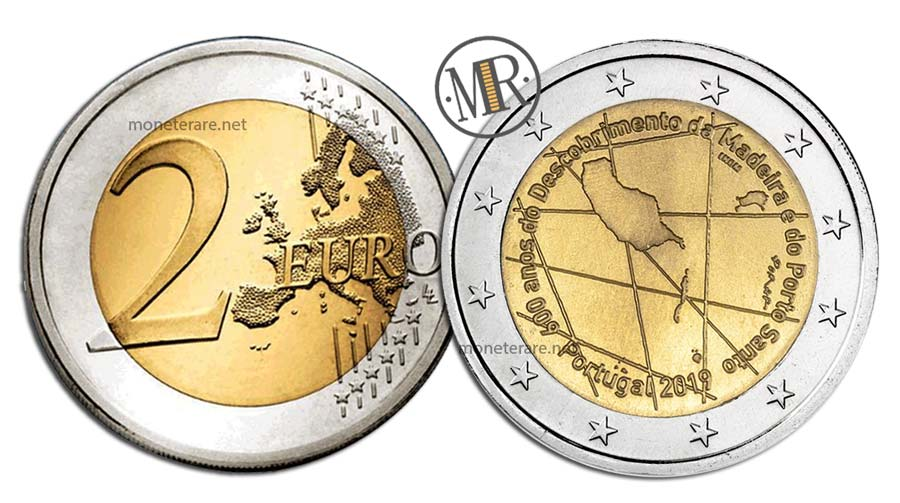 2 Euro Commemorativi Portogallo 2019 Madeira e Porto Santo