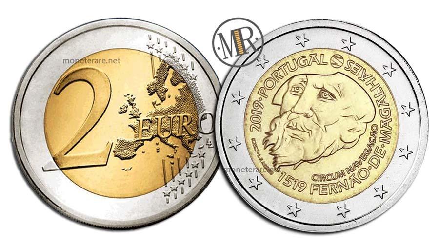 2 Euro Commemorativi Portogallo 2019 Magellano