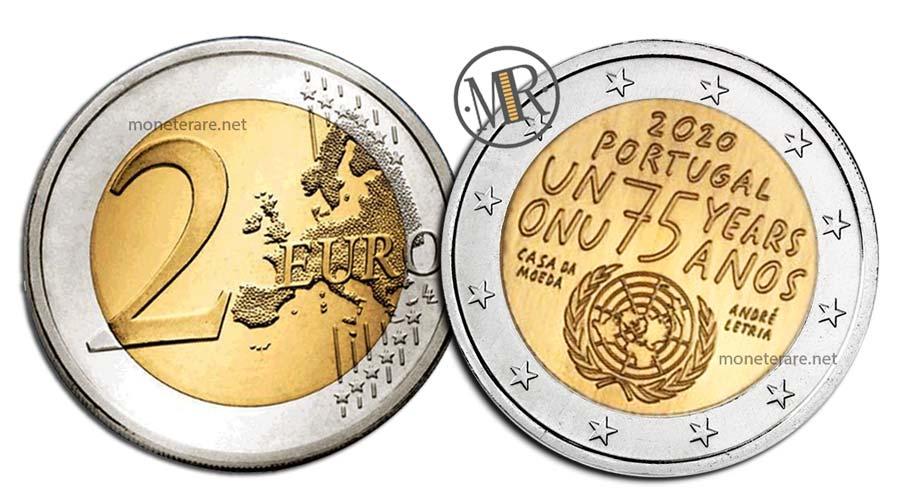 2 Euro Commemorativi Portogallo 2020 Nazioni Unite
